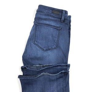 Paige Dark Blue Skyline Bootcut Stretch Jeans